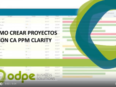 Video como crear proyectos con CA PPM
