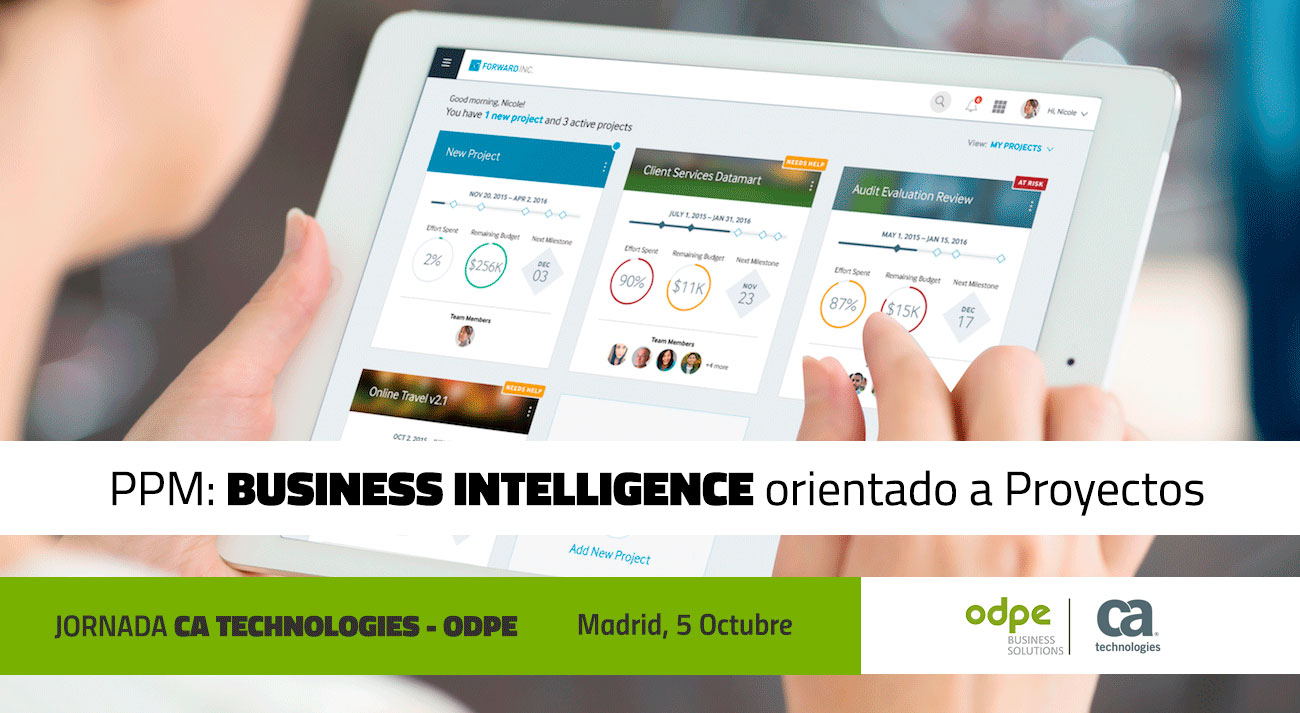 PPM: BUSINESS INTELLIGENCE ORIENTADO A PROYECTOS (MADRID,5 OCTUBRE)